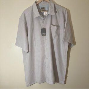 NWT Quiksilver grey white checkered waterman shirt